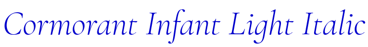 Cormorant Infant Light Italic font